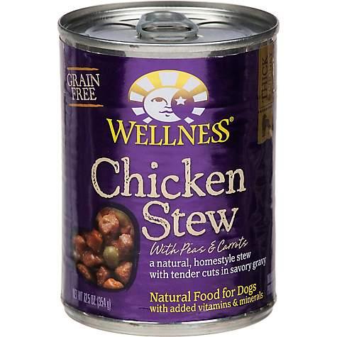 WELLNESS - CHICKEN STEW - (/w Peas & Carrots) - 12.5oz