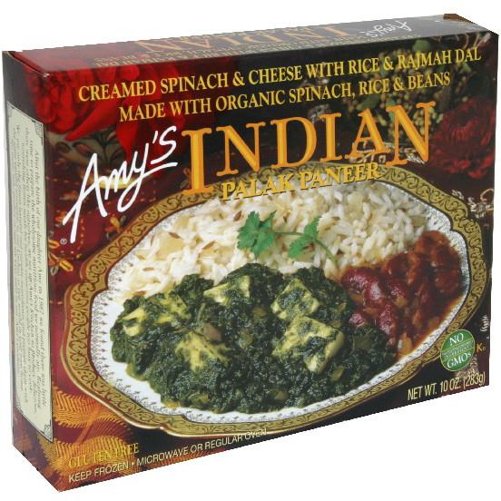 AMY'S - INDIAN - NON GMO - (Palak Paneer) - 10oz