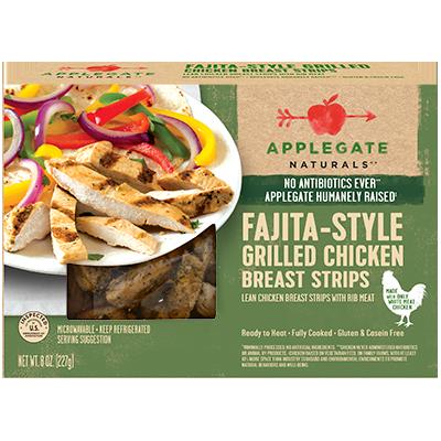 APPLEGATE - FAJITA-STYLE GRILLED CHICKEN BREAST STRIPS - 8oz