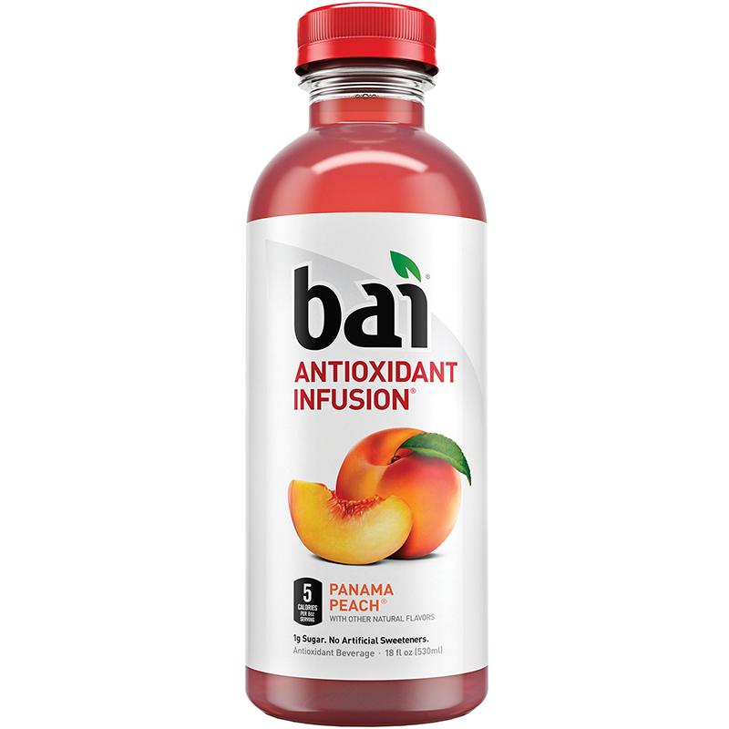 BAI - ANTIOXIDANT SUPERTEA - NON GMO - GLUTEN FREE - VEGAN - (Pamana Peach) - 18oz