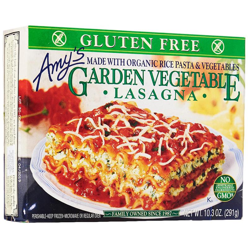 AMY'S - GARDEN VEGETABLE LASAGNA - NON GMO - GLUTEN FREE - 10.3oz