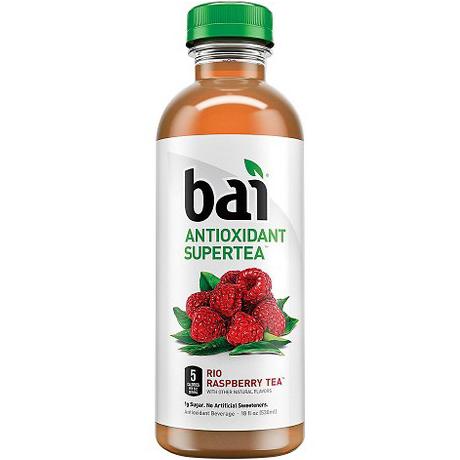BAI - ANTIOXIDANT SUPERTEA - NON GMO - GLUTEN FREE - VEGAN - (Rio Raspberry) - 18oz