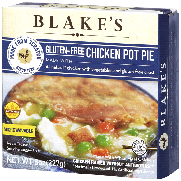 BLAKE'S - CHICKEN POT PIE (ALL NATURAL CHICKEN /W VEGETABLES &  CRUST) - GLUTEN FREE - 8oz