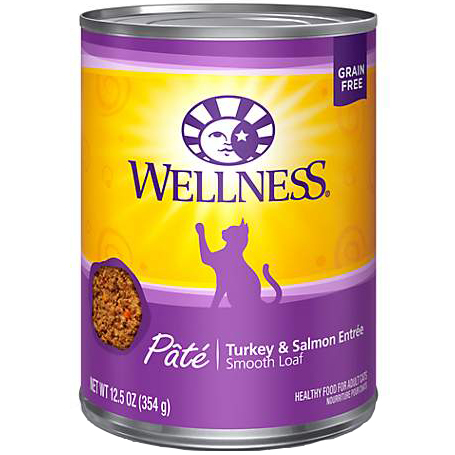WELLNESS - HEALTHY FOOD FOR ADULT CATS - (Turkey & Salmon Entree) - 12.5oz