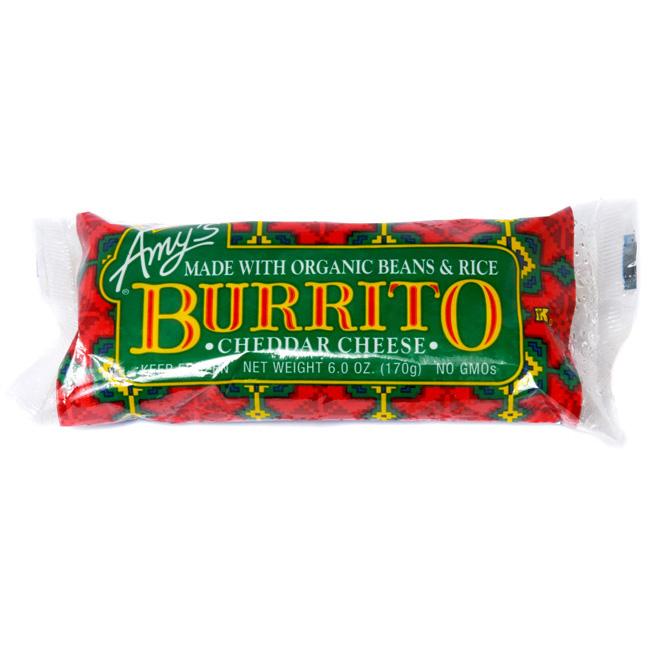 AMY'S - BURRITO - NON GMO - (Cheddar Cheese) - 6oz