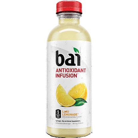BAI - ANTIOXIDANT SUPERTEA - NON GMO - GLUTEN FREE - VEGAN - (Limu Lemonade) - 18oz