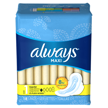 ALWAYS - MAXI - (Size 1 Regular /w Flexi Wings) - 18pads