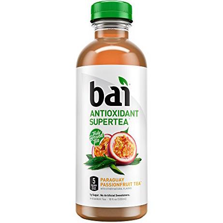 BAI - ANTIOXIDANT SUPERTEA - NON GMO - GLUTEN FREE - VEGAN - (Paraguay Passionfruit) - 18oz