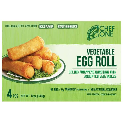 CHEF - VEGETABLE EGG ROLL - 12oz