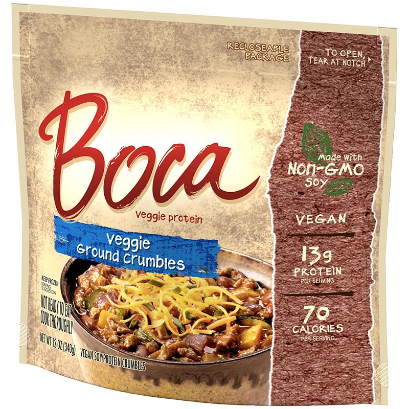 BOCA - VEGGIE GROUND CRUMBLES - NON GMO - VEGAN - 12oz