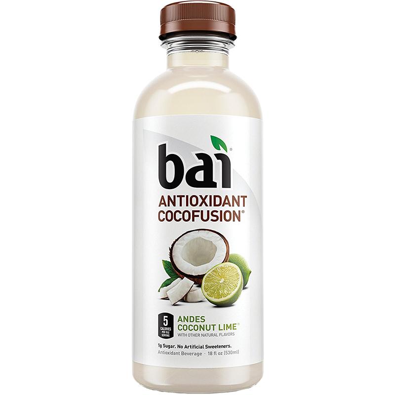 BAI - ANTIOXIDANT SUPERTEA - NON GMO - GLUTEN FREE - VEGAN - (Andes Coconut Lime) - 18oz