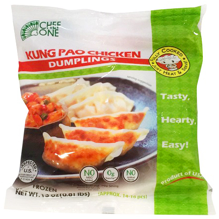 CHEF ONE - KUNG PAO CHICKEN DUMPLINGS - 13oz