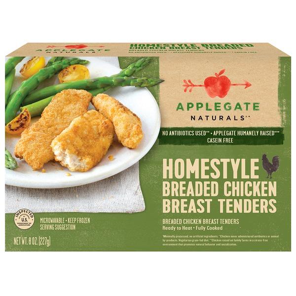 APPLEGATE - HOMESTYLE BREADED CHICKEN BREAST TENDERS - GLUTEN FREE -10oz