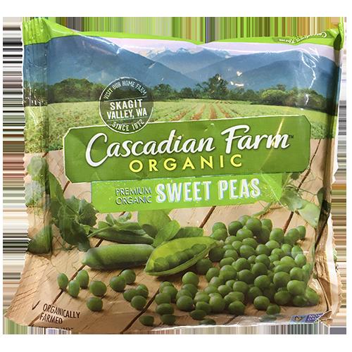 CASCADIAN FARM - ORGANIC SWEET PEAS - NON GMO - 10oz