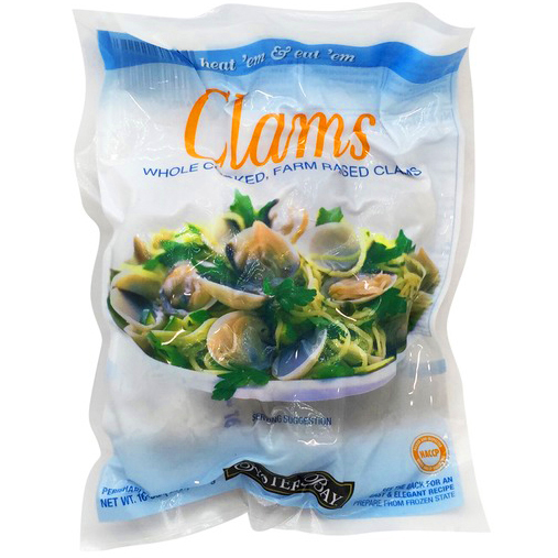 OYSTER BAY - WHOLE CLAMS - 16oz