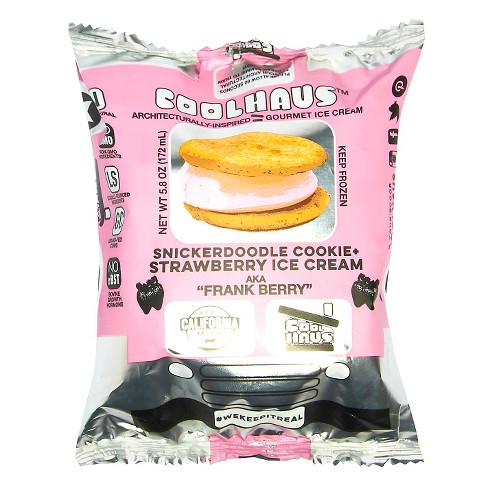 COOLHOUS - FRANK BERRY (Snickerdoodle Cookie + Strawberry Ice Cream) - 5.8oz
