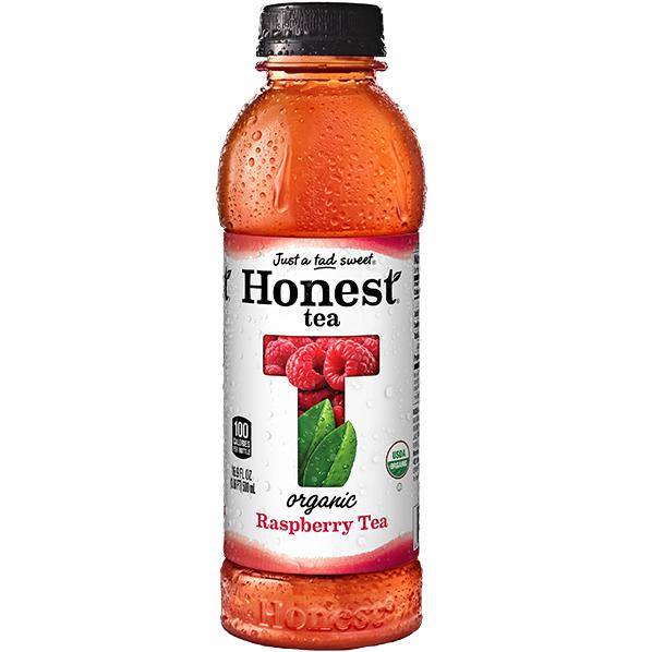 HONEST TEA - ORGANIC TEA - NON GMO - GLUTEN FREE - (Raspberry) - 16.9oz