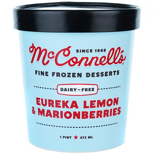 McCONNELL'S - FINE FROZEN DESSERTS - GLUTEN FREE - DAIRY FREE - (Eureka Lemon & Marionberries)-16oz