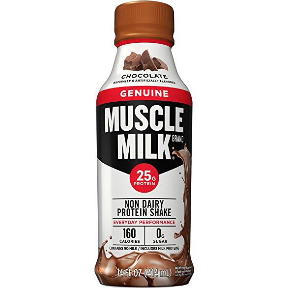 MUSCLE MILK - NON DAIRY PROTEIN SHAKE - GLUTEN FREE - (Chocolate) - 17oz