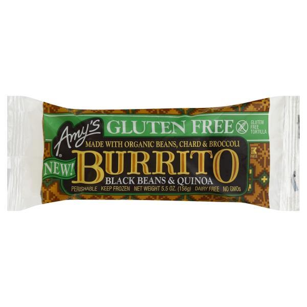 AMY'S - BURRITO - NON GMO - GLUTEN FREE - NON DAIRY - (Black Beans & Quinoa) - 6oz