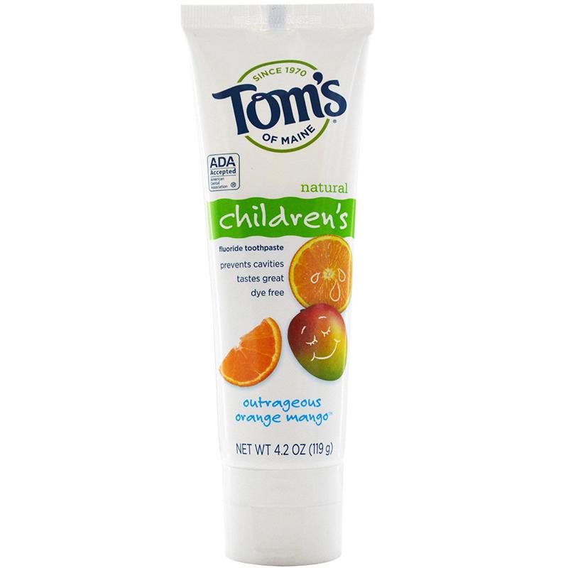 1TOM'S - CHILDREN'S FLUORIDE TOOTHPASTE - (Orange Mango) - 4.2oz