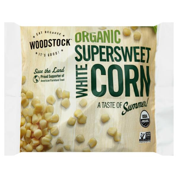 WOODSTOCK - ORGANIC SUPER SWEET WHITE CORN - NON GMO - 10oz