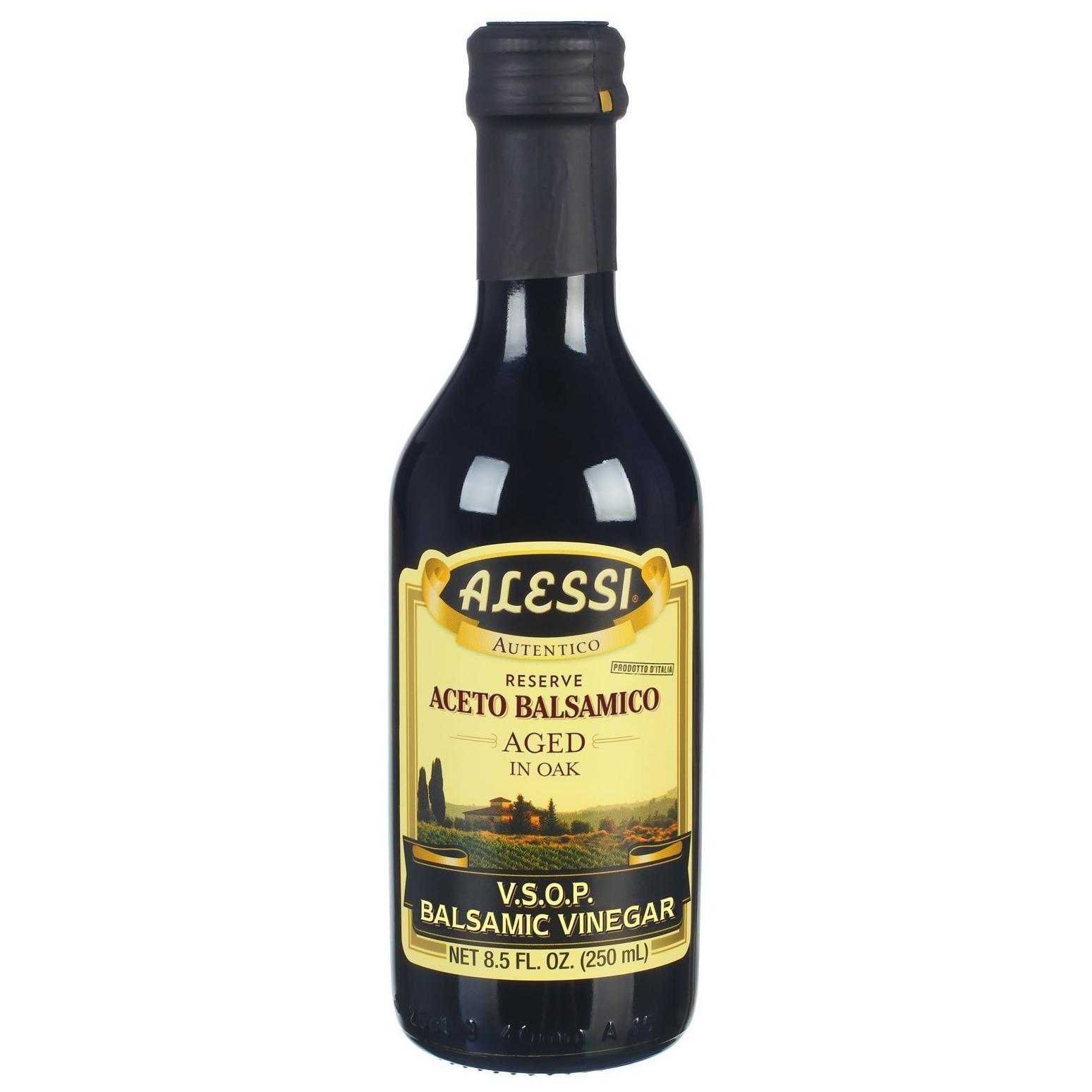 ALESSI - PREMIUM ACETO BALSASMICO AGED IN OAK - (V.S.O.P. Balsamic Vinegar) - 8.5oz