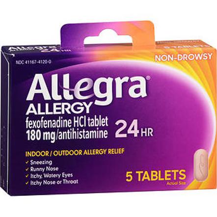 ALLEGRA (ALLERGY) - 5TABLETS