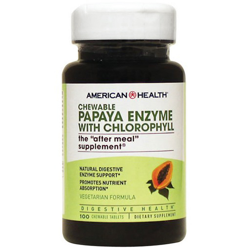 AMERICAN HEALTH - CHEWABLE PAPAYA ENZYME /W CHLOROPHYLL - (The After Meal Supplement) - 90 Tablets