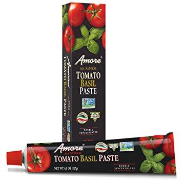 AMORE - ALL NATURAL TOMATO BASIL PASTE - NON GMO - VEGAN - 4.5oz