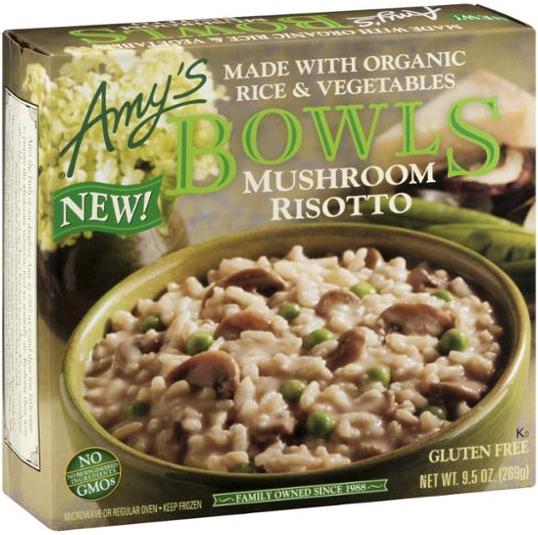 AMY'S - BOWLS MUSHROOM RISOTTO - NON GMO - 9.5oz