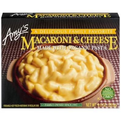 AMY'S - MACARONI & CHEESE MADE /W ORGANIC PASTA - NON GMO - 6oz