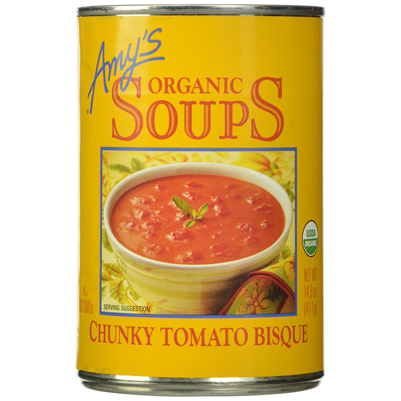 AMY'S - ORGANIC SOUPS - VEGAN - (Chunky Tomato Bisque) - 14.3oz