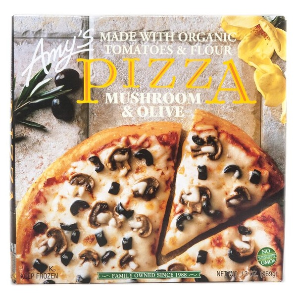 AMY'S - PIZZA - NON GMO - (Mushroom & Olive) - 13oz