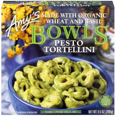 AMY'S - BOWLS PESTO TORTELLINI - NON GMO - 9.5oz
