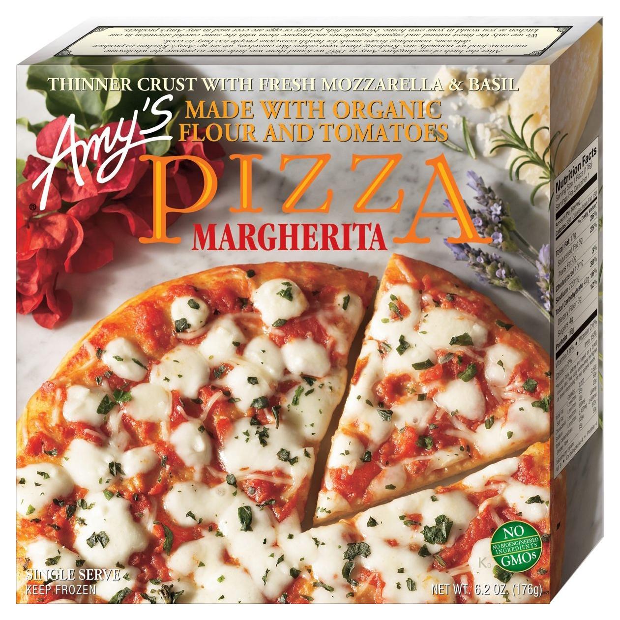 AMY'S - PIZZA - NON GMO - (Margherita) - 6.2oz
