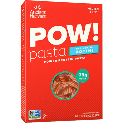 ANCIENT HARVEST - POW! PASTA - (Red Lentil Rotini) - 8oz