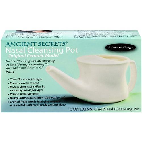 ANCIENT SECRETS - NASAL CLEANSING POT ORIGINAL CERAMIC MODEL - 1pot