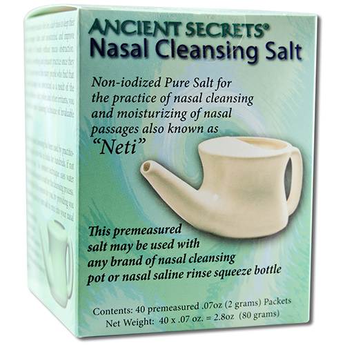 ANCIENT SECRETS - NASAL CLEANSING SALT - 40 packets 2.8oz