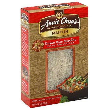 ANNIE CHUN'S - RICE NOODLES - MAIFUN - VEGAN - GLUTEN FREE (Brown Noodles) - 8oz