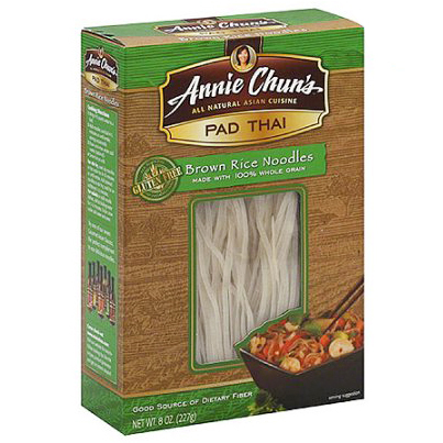 ANNIE CHUN'S - RICE NOODLES - PAD THAI - VEGAN - GLUTEN FREE (Brown Noodles) - 8oz