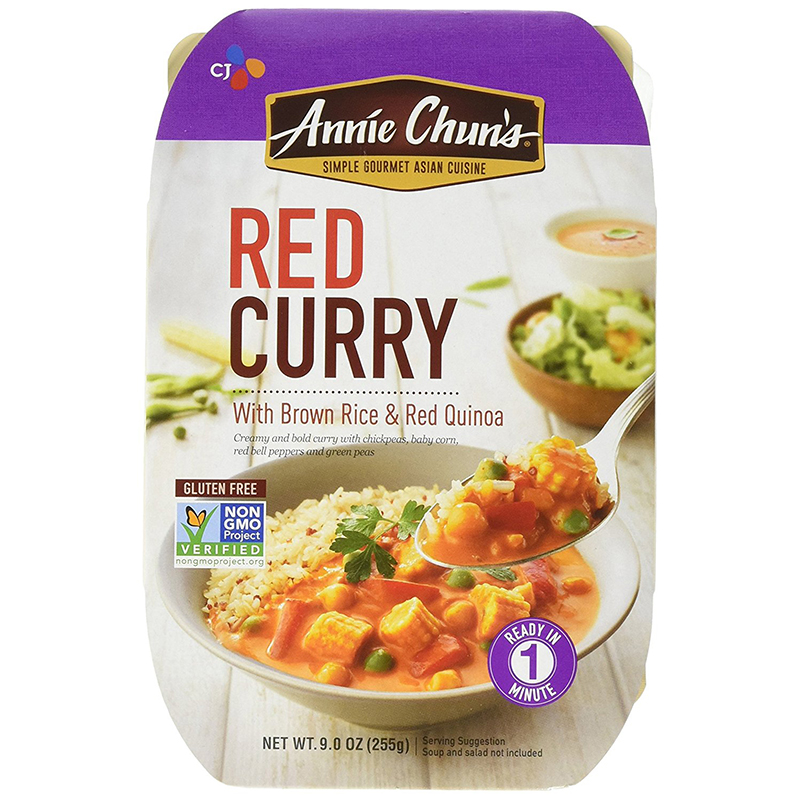 ANNIE CHUN'S - THAI STYLE RED CURRY /W BROWN RICE & RED QUINOA - NON GMO - GLUTEN FREE - 9oz