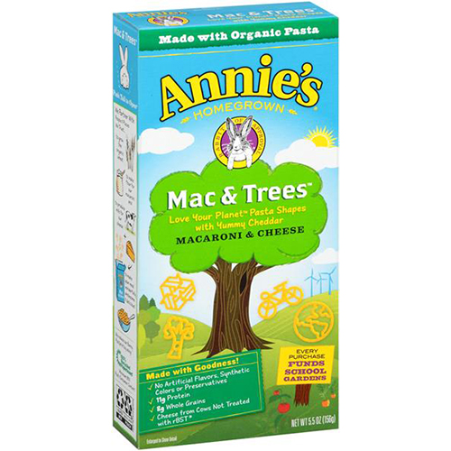ANNIE'S - MACARONI & CHEESE - (Mac & Trees) - 5.5oz