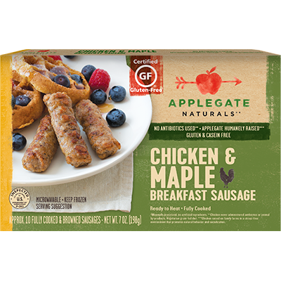 APPLEGATE - CHICKEN & MAPLE BREAKFAST SAUSAGE - GLUTEN FREE - 7oz