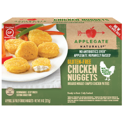 APPLEGATE - CHICKEN NUGGETS - NON GMO - GLUTEN FREE - 8oz