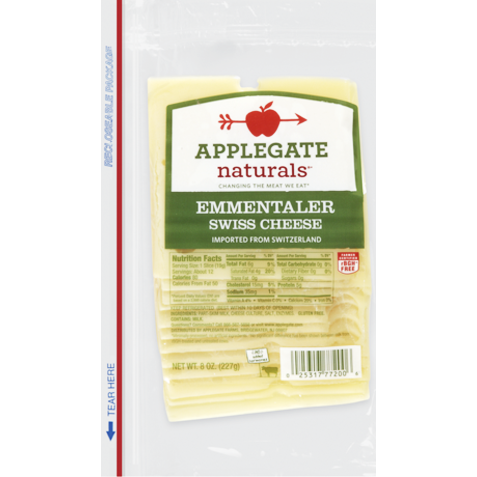 APPLEGATE - EMMENTALER SWISS CHEESE - 8oz