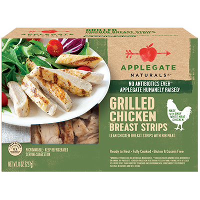 APPLEGATE - GRILLED CHICKEN BREAST STRIPS - 8oz