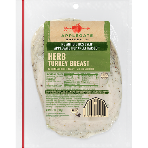 APPLEGATE - HERB TURKEY BREAST - 7oz