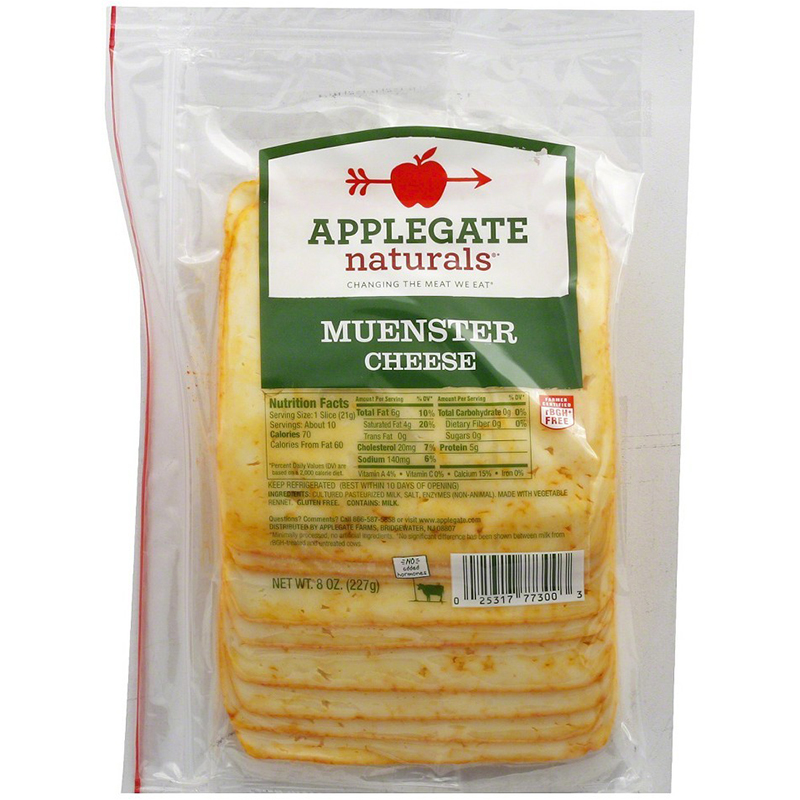 APPLEGATE - MUENSTER CHEESE - NON GMO - 8oz