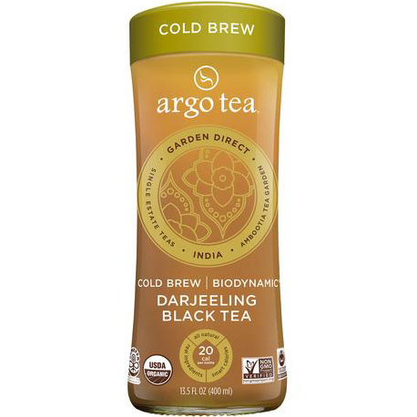 ARGO TEA - COLD BREW - NON GMO - GLUTEN FREE - VEGAN - (Darjeeling Black Tea)- 13.5oz